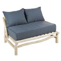 2 Seater Sofa (131x80x72 cm) Teak auf