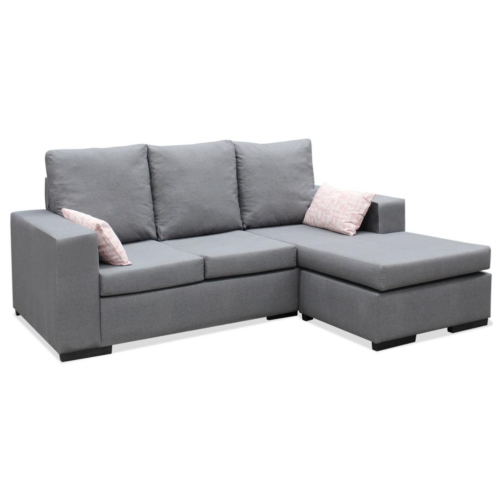 Sofa Chaise Longue, MOUNTED, 3 Seater, Grey, Ref-03A