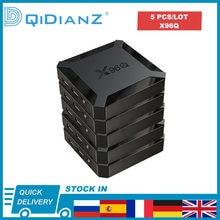 5 шт. в партии Android 10 X96Q 4K Смарт ТВ коробка 1080P четырехъядерный ТВ коробка Allwinner H313 2,4G беспроводной WIFI медиаплеер