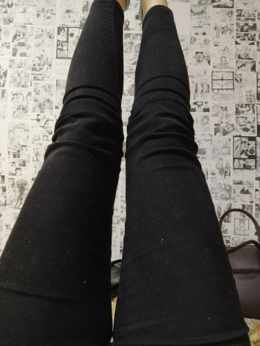 Women Jeans In The Spring  Black Stretch Jeans New Female Korean Stretch  Slim Jeans Pants Feet photo review