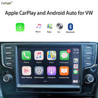 Solución de CarPlay para VW, MK7, Golf, Touran, reproductor de voz, Google Maps, App TXT, Mensaje, Siri, Apple Library, Spotify Play Music