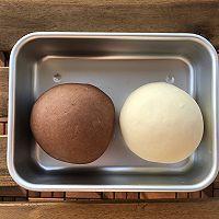 汤种奶香双色刀切的做法图解4