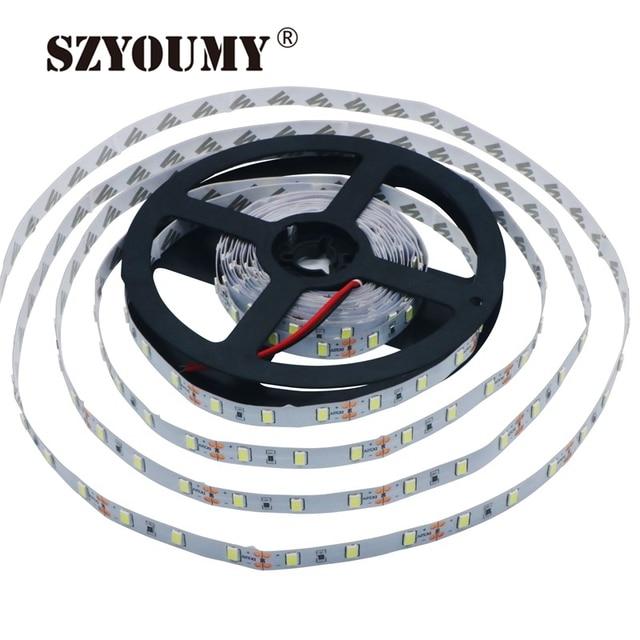 SZYOUMY 100 מטר\חבילה 5630 SMD LED הרצועה שאינה עמיד למים או עמיד למים גמיש רצועת Led אור DC 12V 60 נוריות/M 5 M/Roll