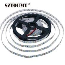 Szyoumy 100 m/lote 5630 smd led strip não impermeável ou impermeável tira flexível led luz dc 12 v 60 leds/m 5 m/rolo