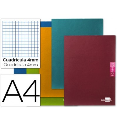 NOTEPAD LEADERPAPER SCRIPTUS A4 48 SHEETS 90G/M2 FRAME 4MM MARGIN 5 Pcs