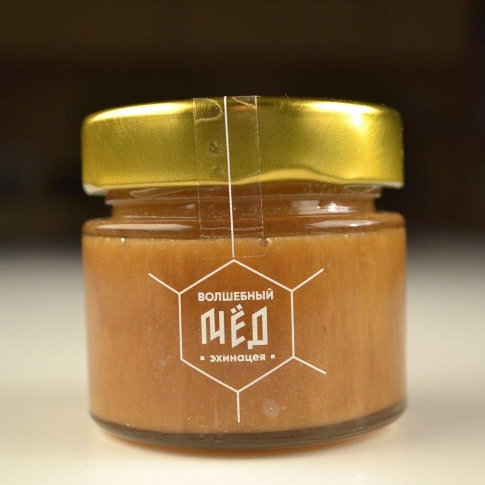 Magic Honey Echinacea Honey for honey natural honey Dried flowers honey badger apiary honey products  jar for honey