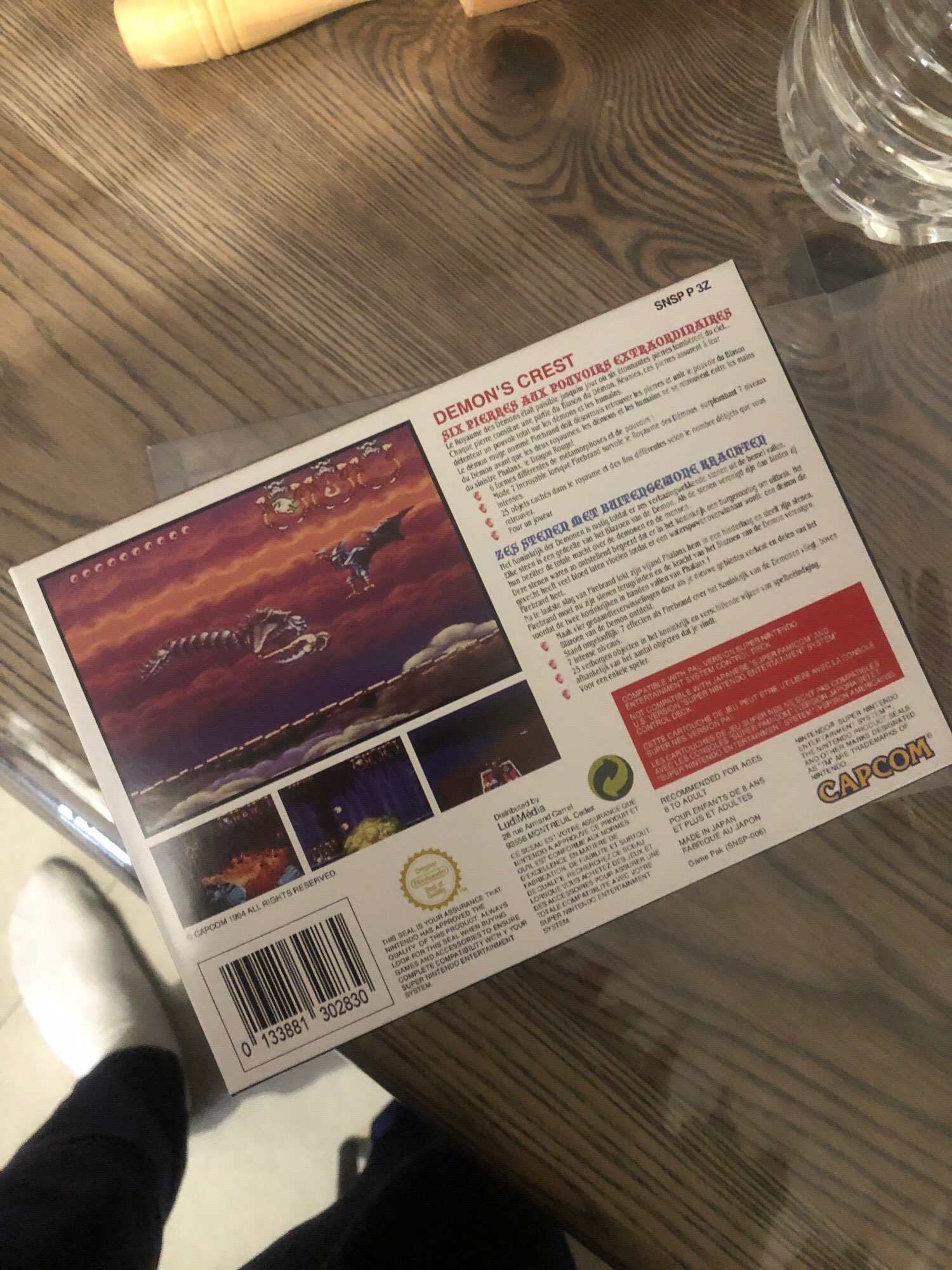 Demon's Crest with box for pal 16bit game cartidge EU Version photo review