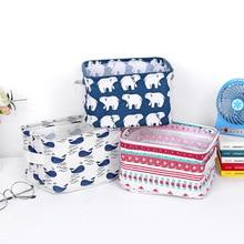 Cartoon Printing Desktop Organizer Box Cosmetic Underwear Storage Bag Waterproof Multipurpose Stationery Sundries Storage Basket