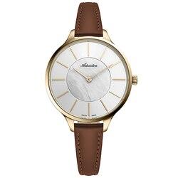 Reloj para mujer a3633.121fq, correa de cuero, cristal mineral, luz solar
