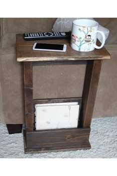Weblonia stolik stolik drewniany stolik kawowy 5016 stolik z litego drewna nowoczesny minimalistyczny Sofa stół narożny tanie i dobre opinie TR (pochodzenie) Meble do domu Meble do salonu