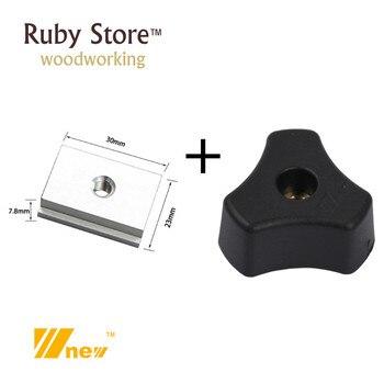SET of 20PCS, 10PCS M8 Star knob + T-slider fot Standard T-slot, Woodworking Jig Accessory, W-new