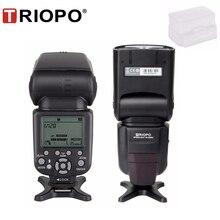 Triopo TR 586EX وضع لاسلكي TTL Speedlite Speedlight لكانون 5D نيكون D750 D800 D3200 D7100 DSLR كاميرا كما YONGNUO YN 568EX