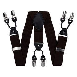 Hosenträger für hosen breite (4 cm, 6 clips, Braun) 55141