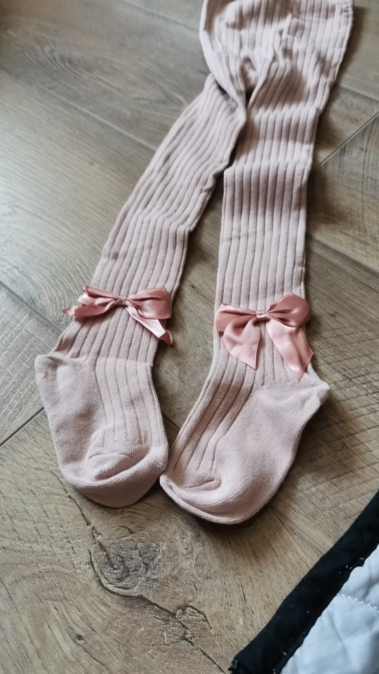 YWHUANSEN 0-10 Yrs Children Spring Autumn Winter Bowknot Tights Cotton Baby Girls Pantyhose Kids Infant Knitted Collant Tights photo review