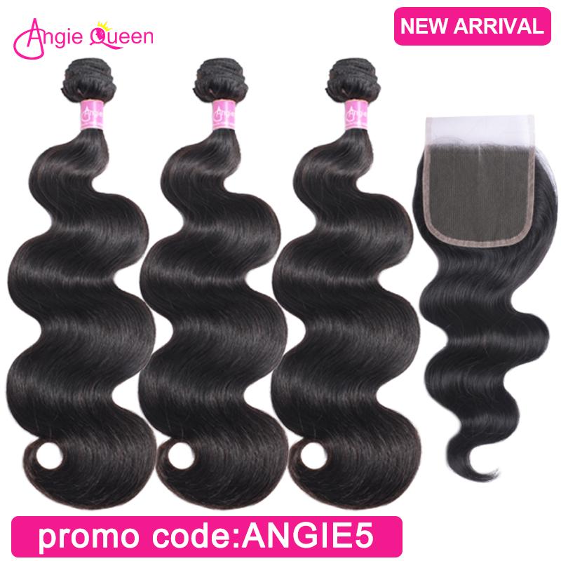 Body Wave Bundles With Closure Malaysian Bundles With Clsoure Remy Hair 3 Bundles With Closure Sew In Middle Part 22 24 26 Inch