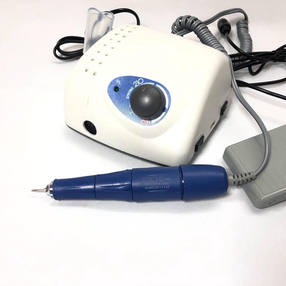 Forte 210/105 65 W 40000 r/min perceuse électrique pour ongles puissant 2,35mm modèle manucure pédicure stylo