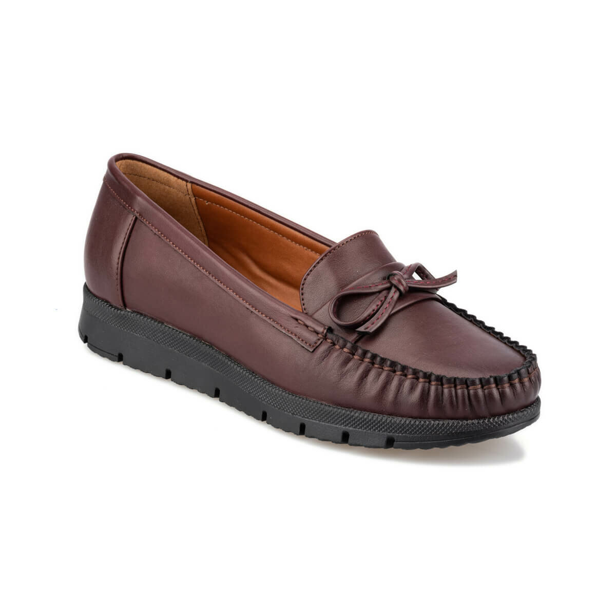 FLO 92.151012CZ Burgundy Women Loafer Shoes Polaris