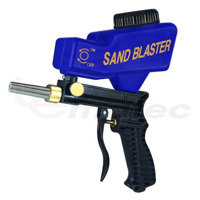 Купить с кэшбэком LEMATEC Super Blue Sandblaster Sand blasting Gun for rust dust remove sandblaster air tool with one free tip sandblasting gun