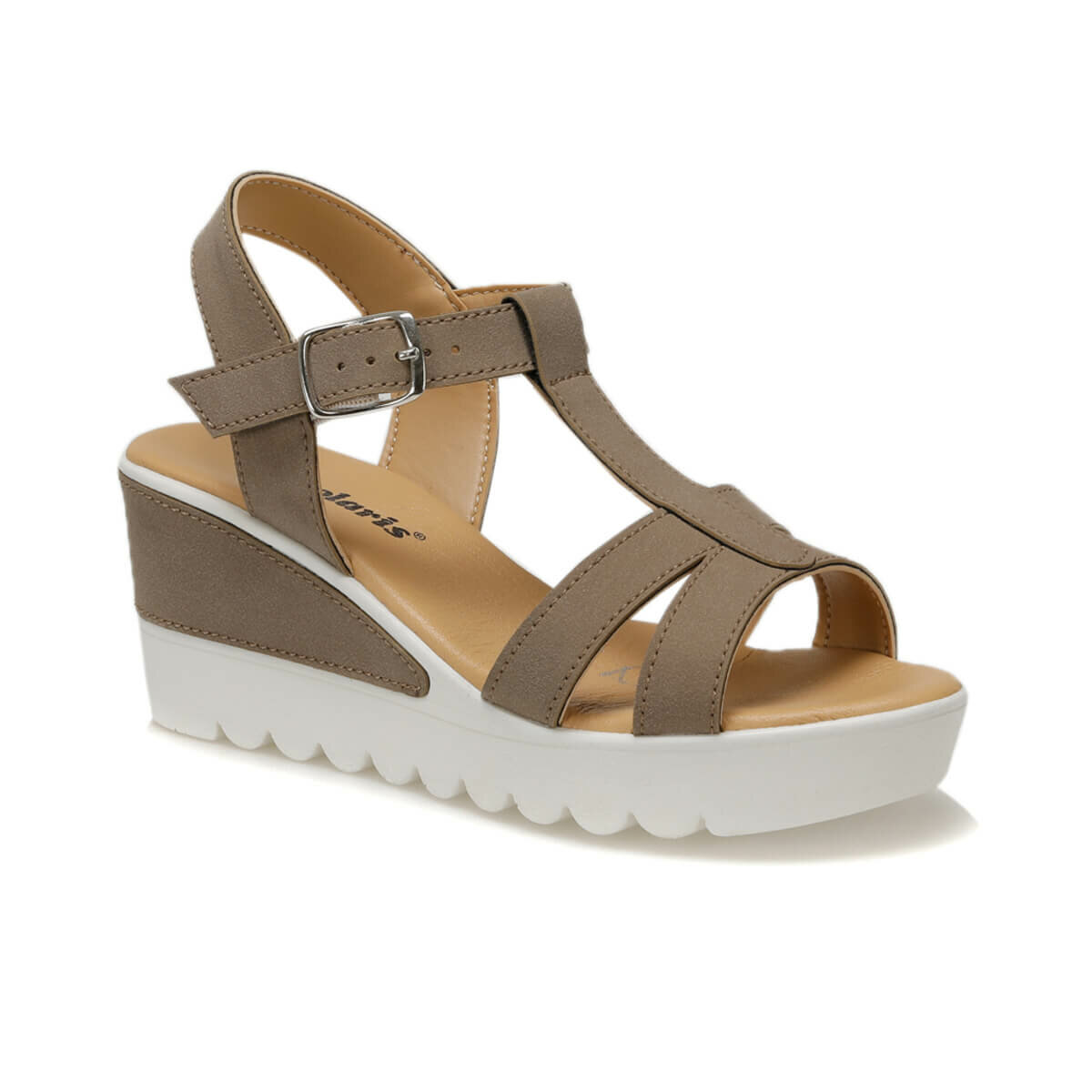 FLO Bronze Women Sandals Woman Summer Wedge Sandals Female  Bohemia High Heel Sandals Fashion Ankle Strap Open Toe Ladies Shoes Polaris 91.313642.Z