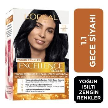 Loreal Excellence İntense farba do włosów 1 1 gęsta czerń 248524311 tanie i dobre opinie