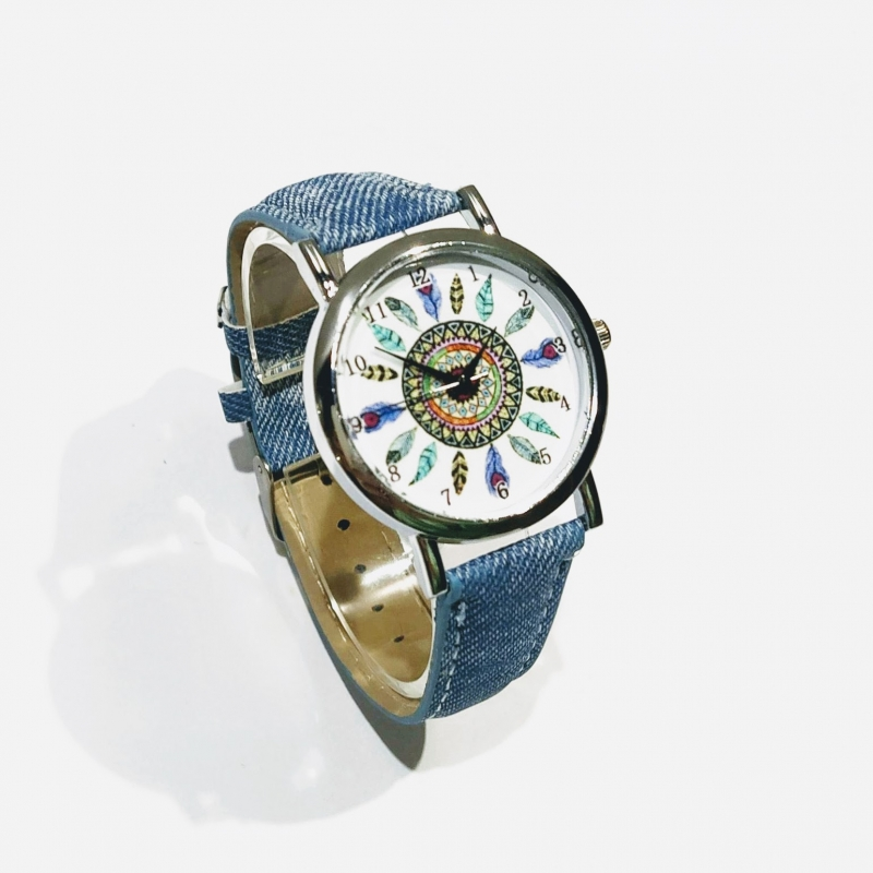 Watch imitations women's brand drawings feather cowboy style jewelry accessories gifts