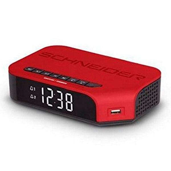 Clock Radio SCHNEIDER VIVA SC310ACLRED AM/FM USB Red|  - title=