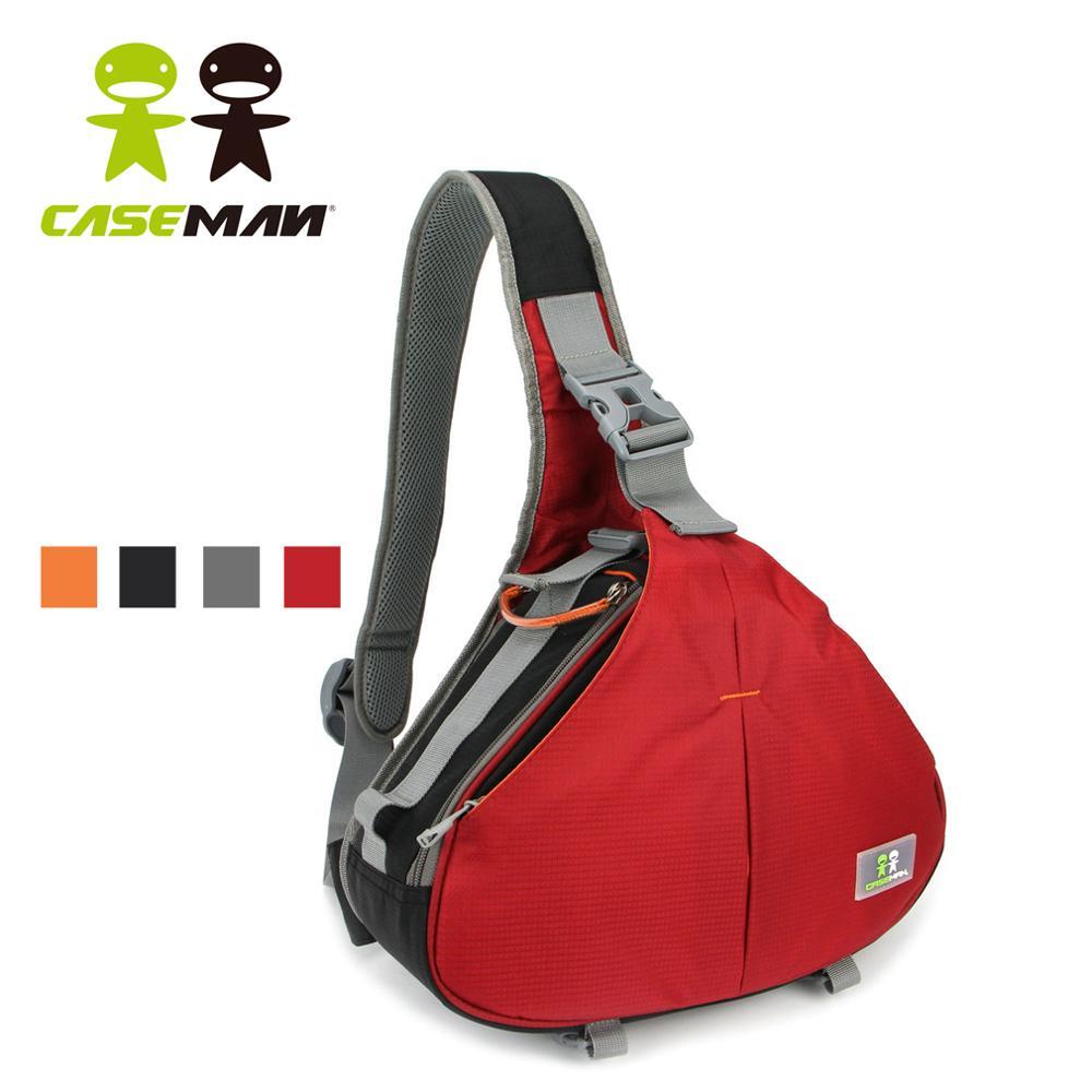 Caseman AOS1 triangle sac photo messager reflex DSLR étui sac à bandoulière trépied avec housse de pluie pour Canon Nikon Sony étanche