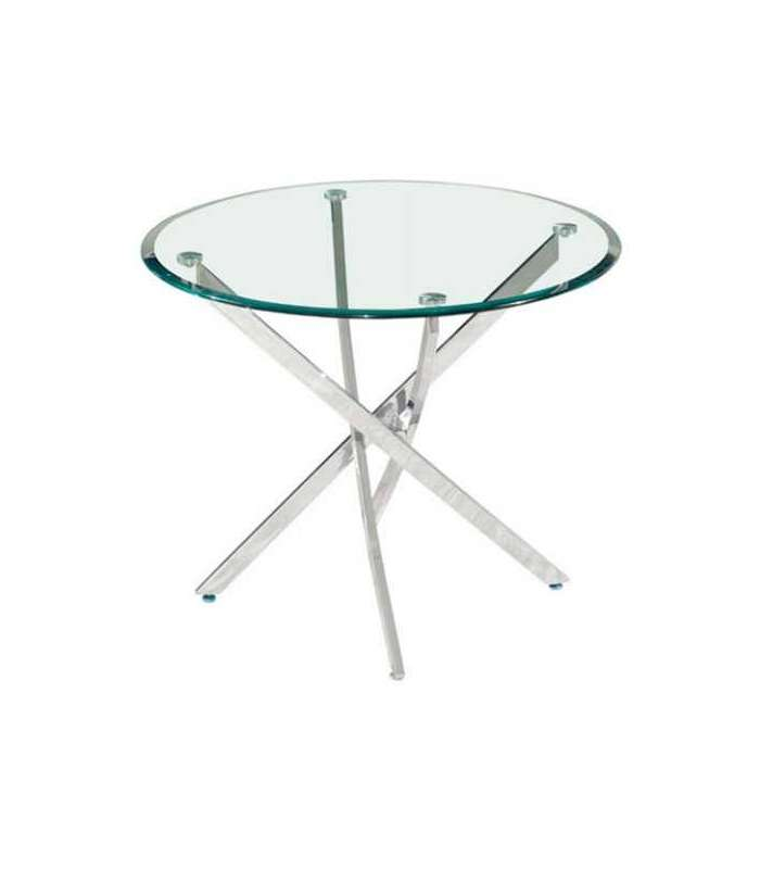 Round dining table crystal legs cross|End Tables| |  - title=