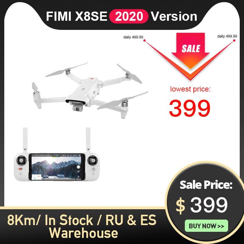 FIMI X8SE 2020 Version Camera Drone 8KM FPV 3-axis Gimbal 4K Camera HDR Video GPS 35mins Flight Time RC Quadcopter RTF 1 Battery