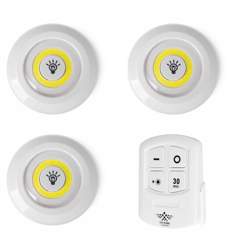 Juego de 3 focos LED con mango inalámbrico, luz LED descendente para...