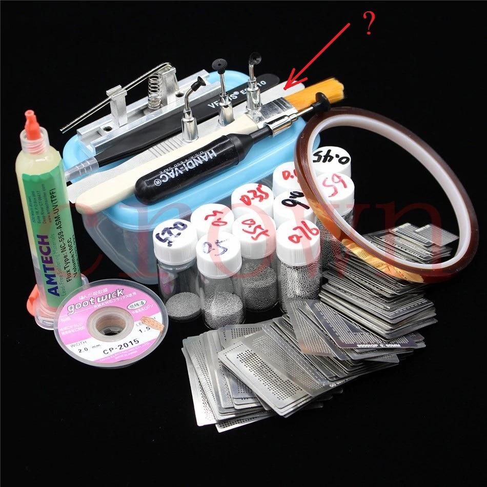 Reballing Station Diagonal Stencil Solder Aluminum Alloy Rework Kit
