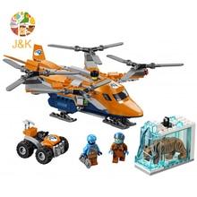 STADT 310 stücke Arctic Air Transport Kompatibel 60193 Modell Baustein Spielzeug Für Kinder Geburtstag Geschenke