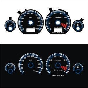 Image 1 - DASH Brand New EL Glow Gauge for Golf MK3 0 220 km 7000 RPM Black Panel Reverse White Blue Light
