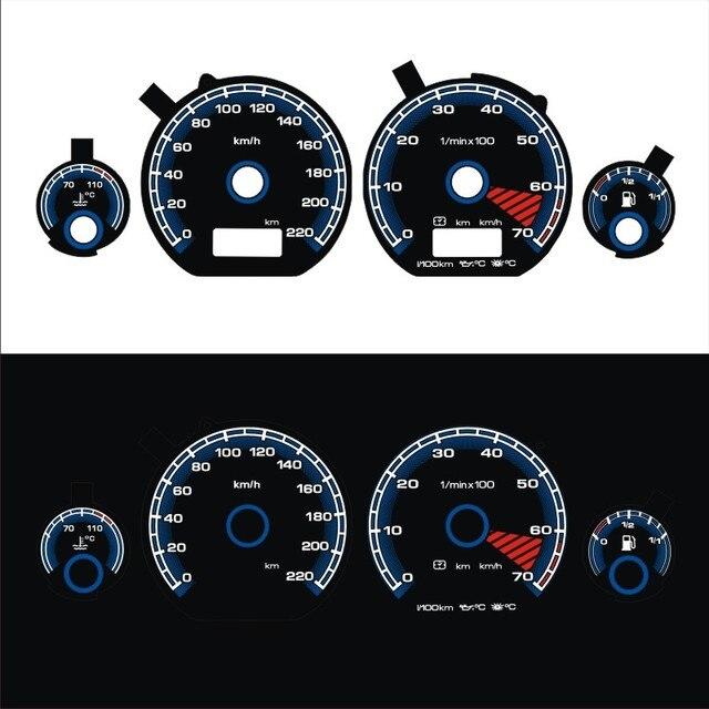 DASH Brand New EL Glow Gauge for Golf MK3 0 220 km 7000 RPM Black Panel Reverse White Blue Light