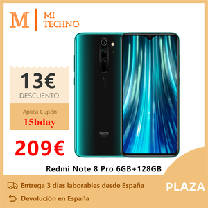 Xiaomi Redmi Note 8 Pro Smartphone(6GB RAM 128GB ROM telefono movil free new NFC android Quad camera) [Global Version]
