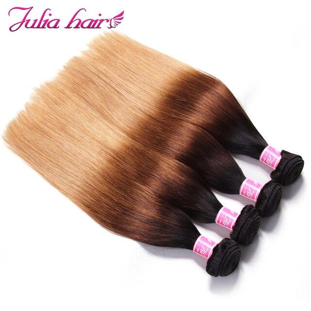 Ali Julia brazylijski prosto Ombre ludzkie włosy splot wiązki 16-26 cali przedłużanie włosów podwójne pasma Remy włosy 1Pc 3 sztuk 4 sztuk