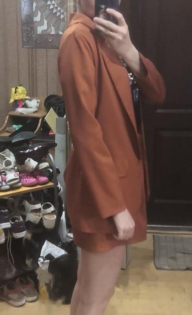 2019 New Fashion Women Formal Blazer Long Sleeve Maroon Ladies Retro Coat Female Pockets Blazer Work Office Business Suit D30 reviews №2 22630