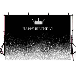 Image 2 - لافتة زخرفية لأعياد الميلاد بطابع فضي وأسود ، خلفية لامعة ، نقاط فضية ، خلفية صور ، مواد تزيين الحفلات