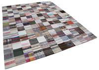 242x300 Cm Multicolor Handmade Rugs Patchwork Rug 8x10 Ft|Carpet| |  -