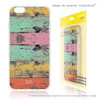 FunnyTech®Coque de support pour Xiaomi Redmi Silicone GO l caisse de support en bois couleurs vers.1