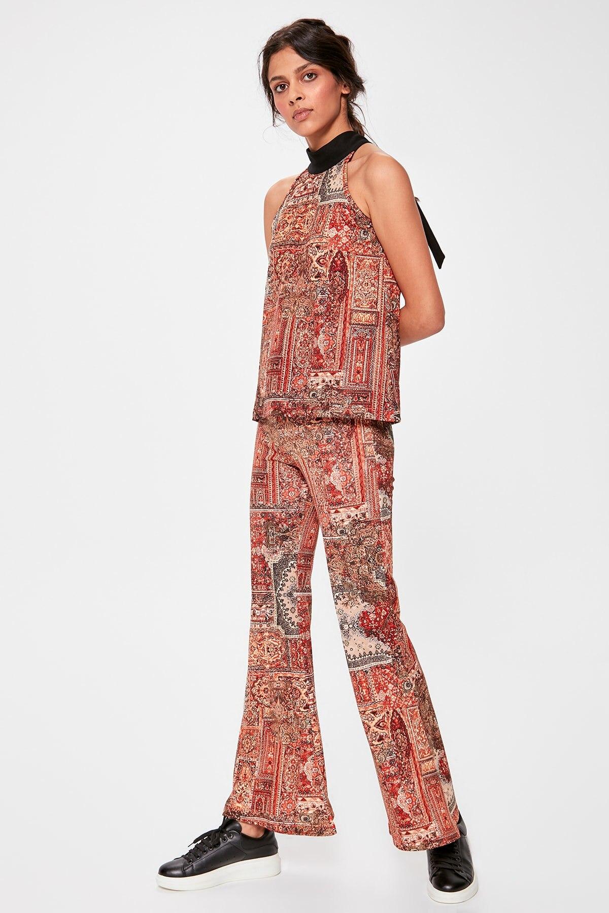 Trendyol Multicolour Pattern Knitting Pants TWOAW20PL0237