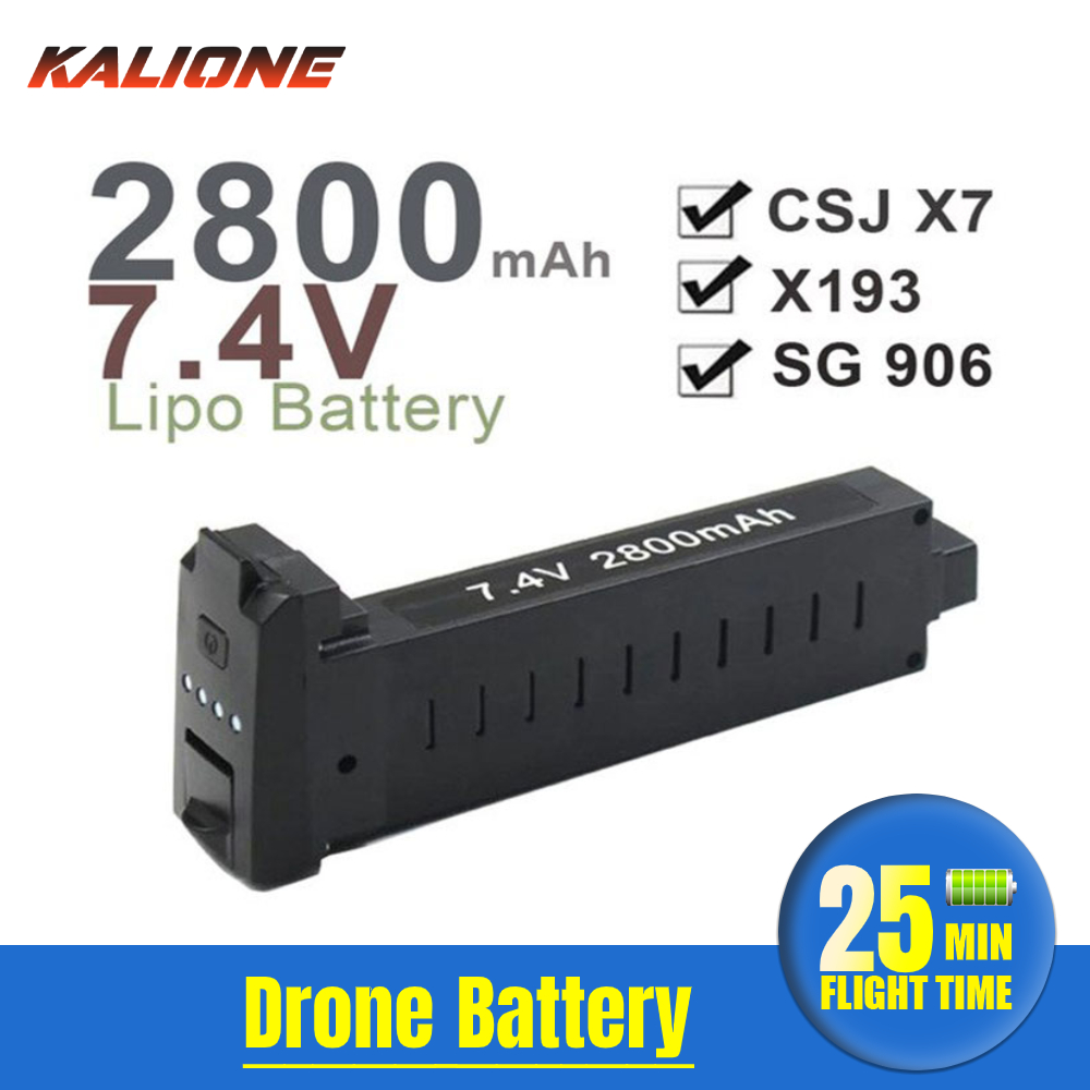 SG906 drone Battery extra Lithium  Battery spare parts accessories 7 4V 2800mAh replacement rechargeable  Li-Po battery