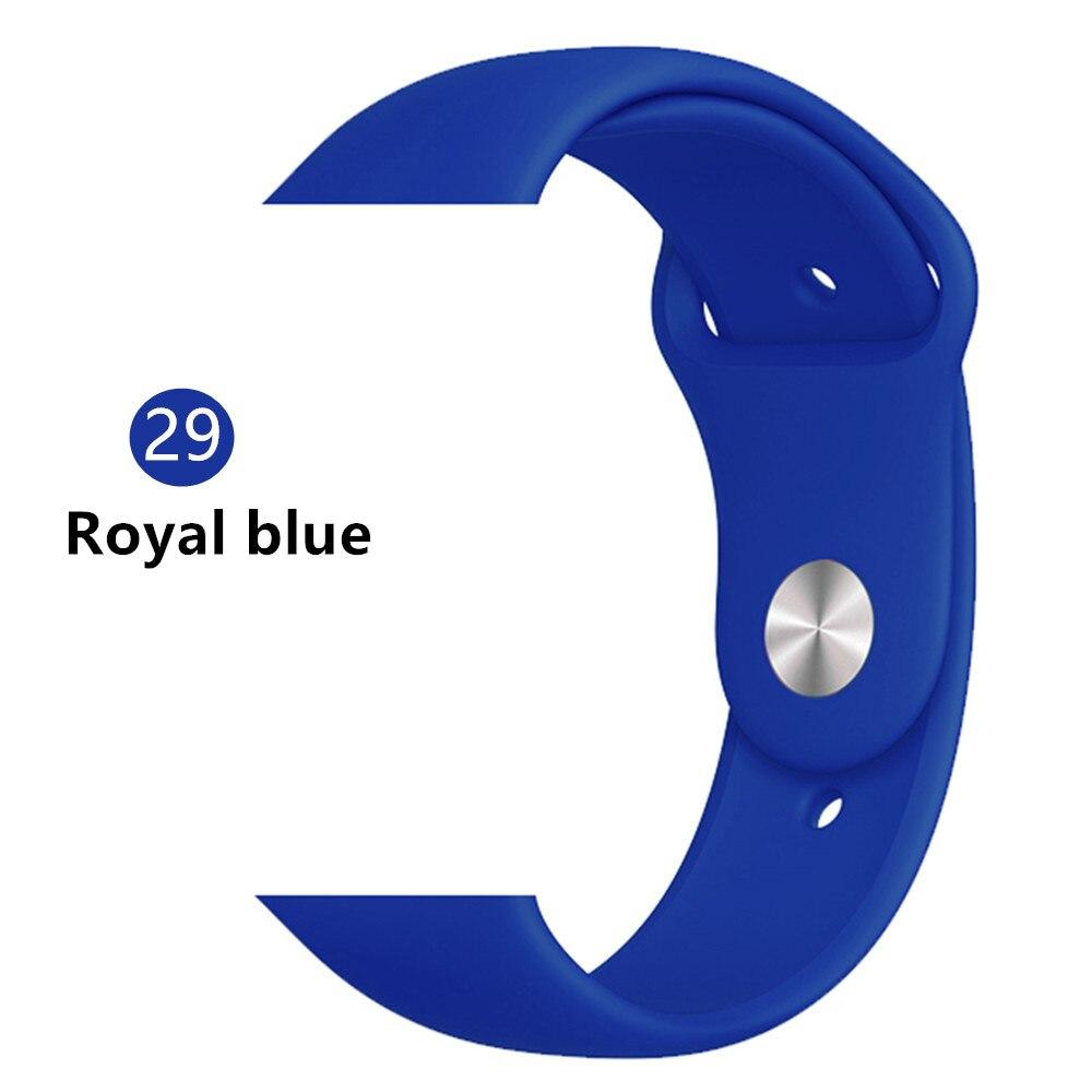 Ремешок для apple watch band 44 мм/40 мм iwatch band 5 4 42 мм 38 мм correa pulseira watch band для apple watch 5 4 3 браслет 44 мм - Цвет ремешка: royal blue 29
