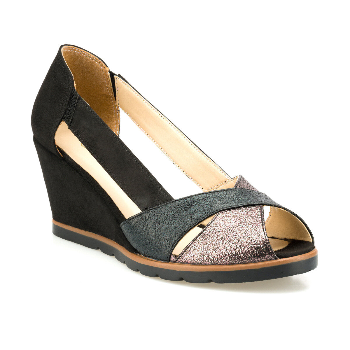 FLO 315148.Z Black Women Sandals Polaris