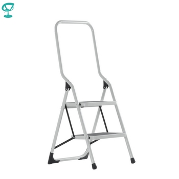 95669 Barneo ST-12 Ladder Steel 2 Stage White Single Side Max Load 150 Kg Free Shipping To Russia