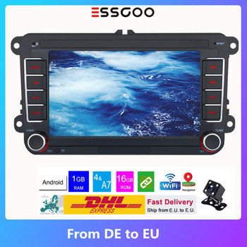 Essgoo Android Car Radio 2 Din 7'' Autoradio Bluetooth For Volkswagen/VW Multimedia Player Stereo GPS Navigation Touch Screen image