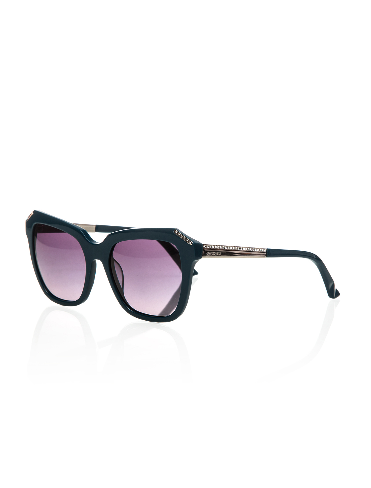 Women's sunglasses swr 0115 87b bone green organic 55-swarovski