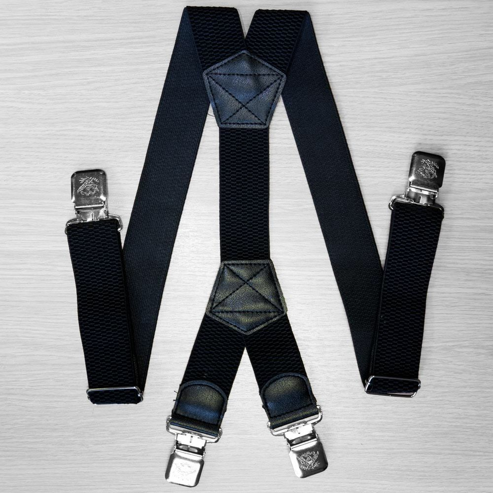 Suspenders For Large Size Trousers (4 Cm, 4 Clips, Black) 54159