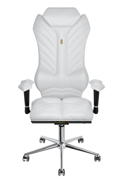 Office Chair KULIK SYSTEM MONARCH White Computer Chair Relief And Comfort For The Back 5 Zones Control Spine