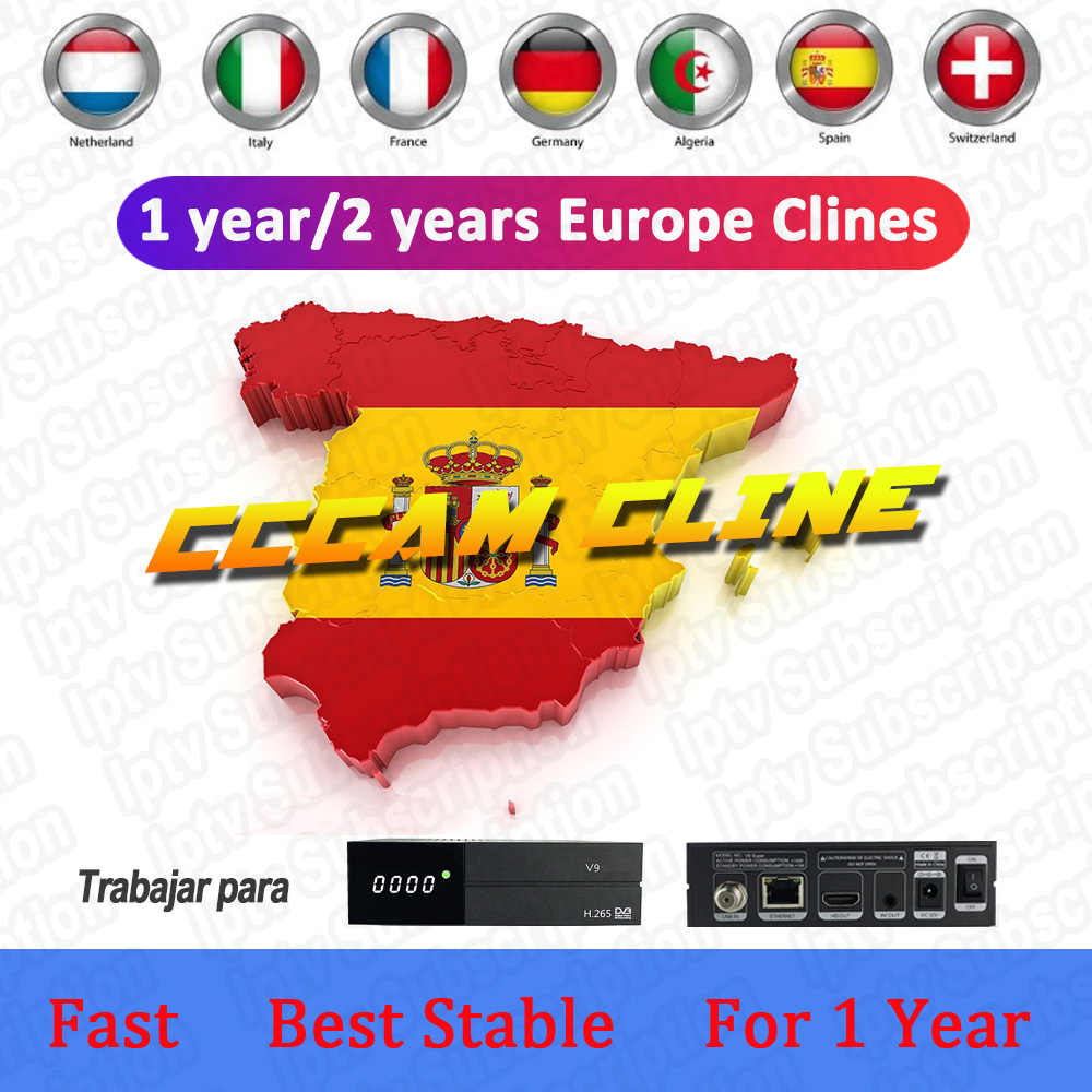 DVB-S2 Receptor Cccam cline for 1 year Spain Oscam cline use for GT media V9 Super V8 Nova Satellite TV Receiver Europe channels